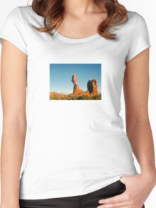 Balanced Rock Holga Style Photograph Women's Fitted Scoop T-Shirt