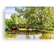 Bridge Over Lake Canvas Print