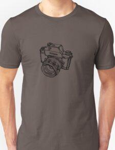 Nikon F Classic Film Camera Illustration Unisex T-Shirt