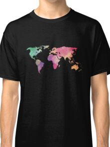 rainbow watercolor continents Classic T-Shirt