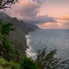 Napali Coast, Sunrise - Kauai by Michael Treloar
