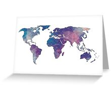 geometric watercolor continent Greeting Card