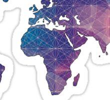 geometric watercolor continent Sticker