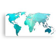 geometric continents Canvas Print