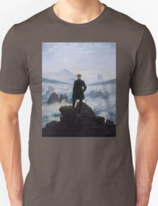 Man in a sea of fog Antique German painting T-Shirt