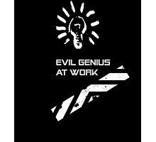 Evil Genius At Work. Photographic Print