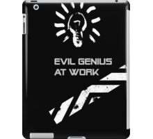 Evil Genius At Work. iPad Case/Skin