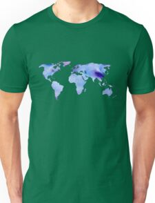 watercolor continents Unisex T-Shirt