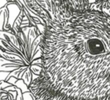 Rabbit & Flowers Sticker