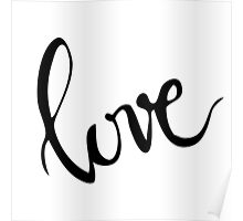 love hand lettered greeting Poster