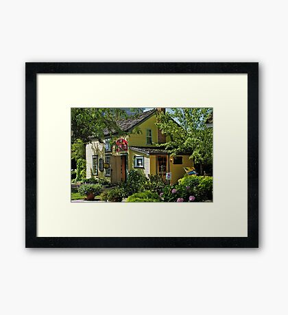 The Yellow House Framed Print