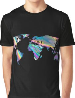 holographic continents Graphic T-Shirt