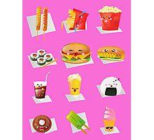 kawaii fast food Photographic Print