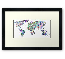 swirly design continents Framed Print