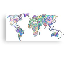 swirly design continents Canvas Print