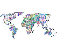 swirly design continents Photographic Print