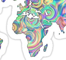 swirly design continents Sticker
