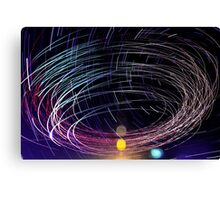 Orbiting Police Helicopter Long-Exposure Canvas Print
