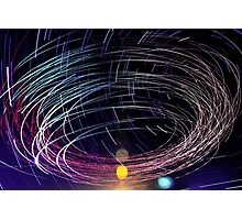 Orbiting Police Helicopter Long-Exposure Photographic Print