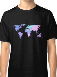 watercolor sky continents Classic T-Shirt