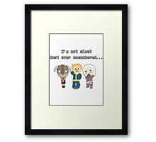 I'm not slow! Just over encumbered...  Framed Print