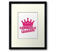 Cornhole queen Framed Print