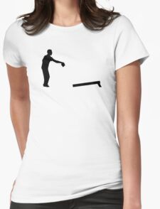 Cornhole player Womens Fitted T-Shirt
