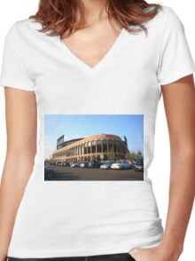 Citi Field - New York Mets Women's Fitted V-Neck T-Shirt
