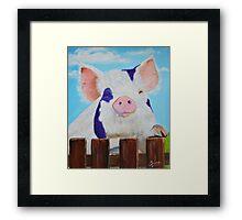 Furry Pig Framed Print