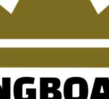Longboard king Sticker