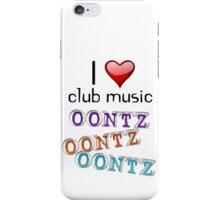 I heart club music iPhone Case/Skin