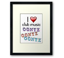 I heart club music Framed Print