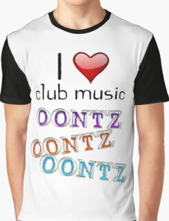 I heart club music Graphic T-Shirt
