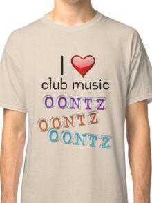 I heart club music Classic T-Shirt