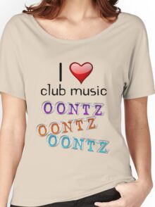 I heart club music Women's Relaxed Fit T-Shirt