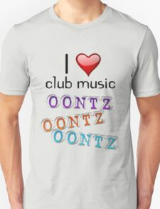 I heart club music T-Shirt