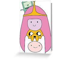 Adventure Time - Girly Totem - Finn, Jake, BMO and Princess Bubblegum Greeting Card