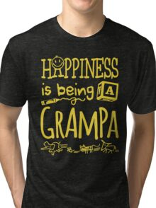 Happiness is Being a Grampa Tri-blend T-Shirt