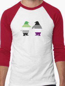 Aro Ace Pride Penguins Men's Baseball ¾ T-Shirt