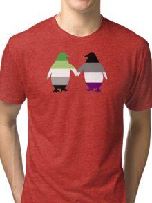Aro Ace Pride Penguins Tri-blend T-Shirt