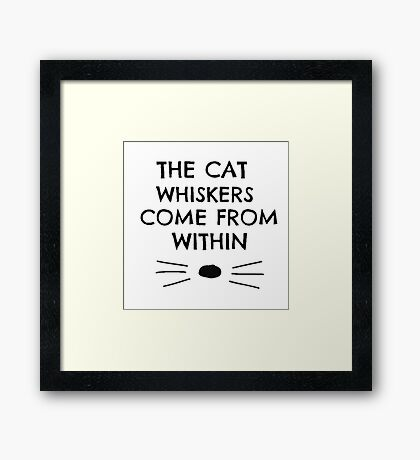 Dan and Phil Cat Whiskers Notebook Framed Print