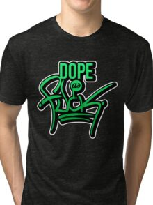 Dope as fk - version 1 - gradient Tri-blend T-Shirt