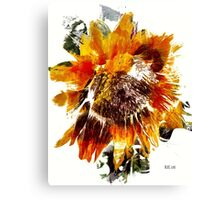 Painted Sunflower Canvas Print
