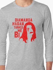 Diamanda Hagan Turned Me Bi (Red) Long Sleeve T-Shirt