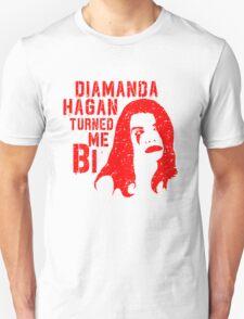 Diamanda Hagan Turned Me Bi (Red) T-Shirt