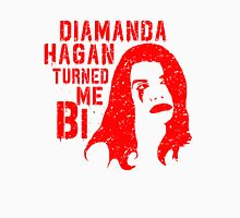 Diamanda Hagan Turned Me Bi (Red) Unisex T-Shirt
