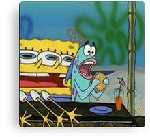 Spongebob funny Canvas Print