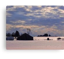Serenity in the snow Canvas Print