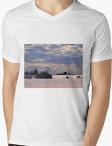 Serenity in the snow Mens V-Neck T-Shirt