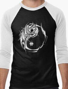 Yin Yang White Men's Baseball ¾ T-Shirt